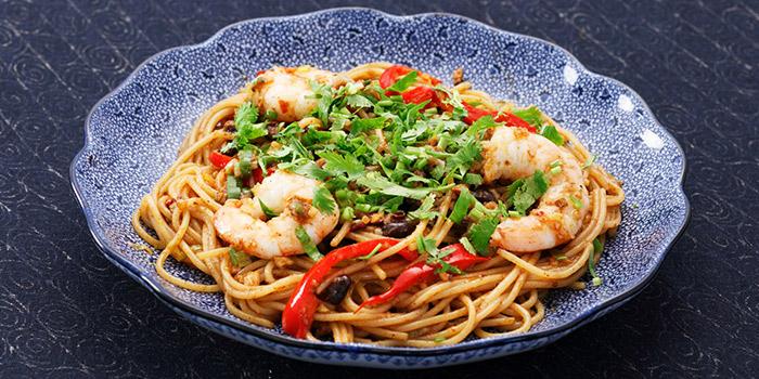 Olive Black Bean with Shrimps Spaghetti from Yomenya Goemon in Buona Vista, Singapore
