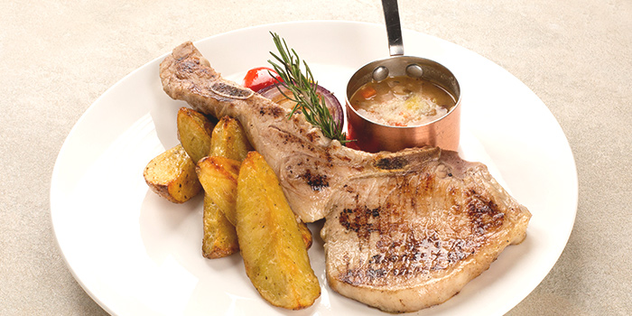 Pork Chop from iO Italian Osteria Singapore at HillV2 in Bukit Timah, Singapore