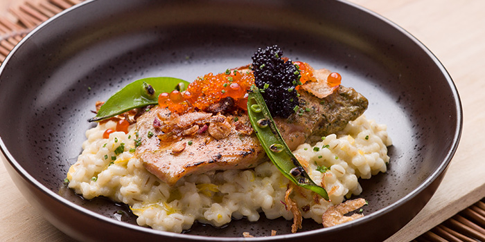 Salmon Risotto from Wine & Chef in Keong Saik, Singapore