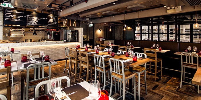 Interior of Scarlett Cafe & Wine Bar, Tsim Sha Tsui, Hong Kong