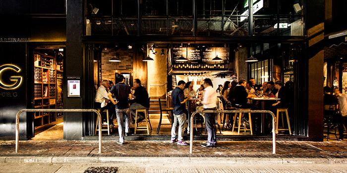 Exterior of Scarlett Cafe & Wine Bar, Tsim Sha Tsui, Hong Kong