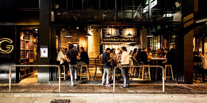 Exterior of Scarlett Cafe & Wine Bar, Tsim Sha Tsui, Hong Kong