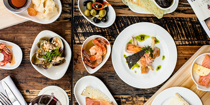 Tapas Spread, Scarlett Cafe & Wine Bar, Tsim Sha Tsui, Hong Kong
