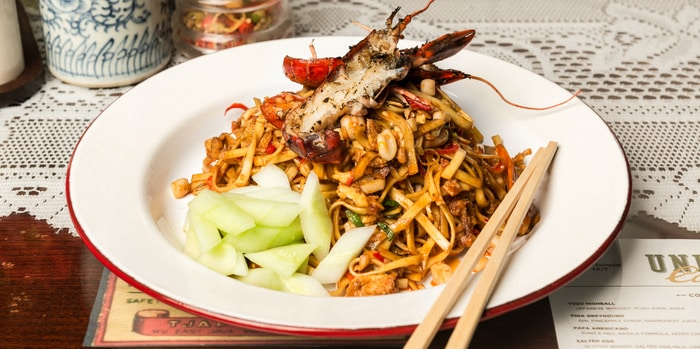 Seafood Mie Goreng with Crayfish, Squid and Crustacean Oil at Union Cafe, Senayan City