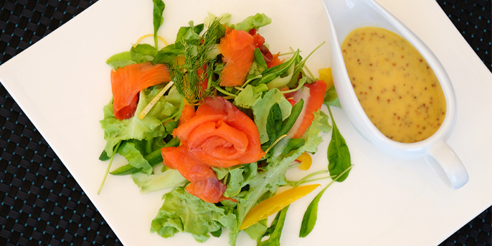 Smoked-Salmon-Salad from Climax Poolside Bar & Grill in Patong, Phuket, Thailand.