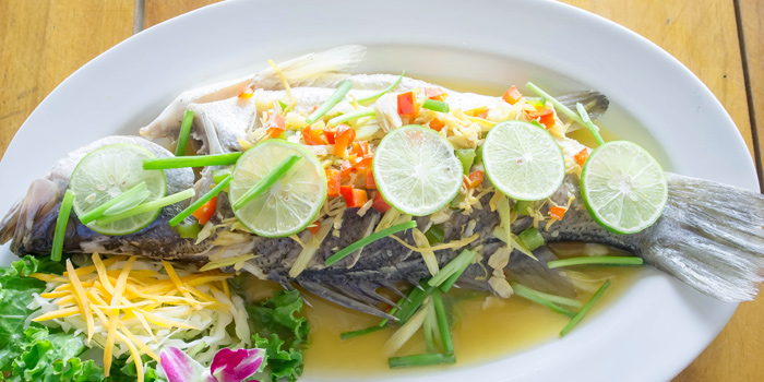 Steamed-Fish-Lemon-Sauce from Golden Fish Restaurant & Bar in Bangtao Beach, Phuket, Thailand