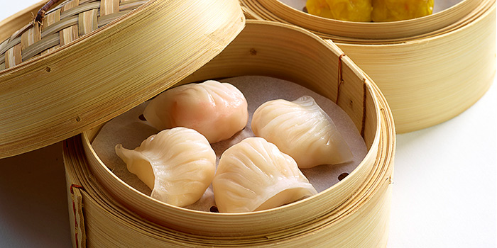 Steamed Shrimp Dumplings and Pork Dumplings, The Chinese Restaurant, Tsim Sha Tsui, Hong Kong