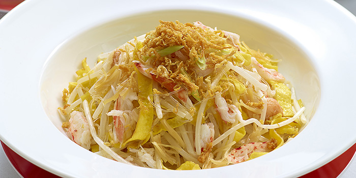 Stir Fried Crab Meat with Egg Conpoy and Bean Sprouts, The Chinese Restaurant, Tsim Sha Tsui, Hong Kong