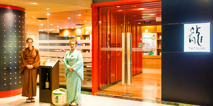 Restaurant Front of Tatsumi Japanese Cuisine at Pathumwan Princess Hotel 444 Phayathai Road Bangkok