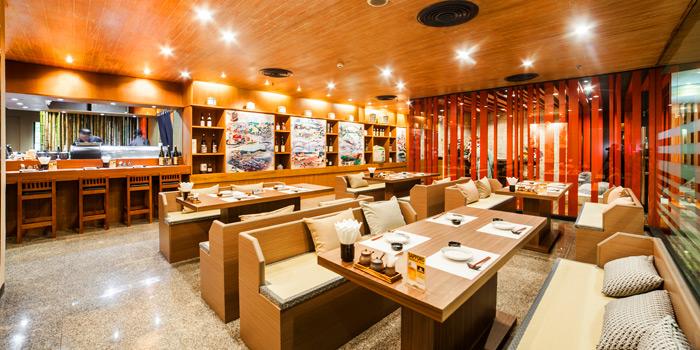 Restaurant Interior of Tatsumi Japanese Cuisine at Pathumwan Princess Hotel 444 Phayathai Road Bangkok