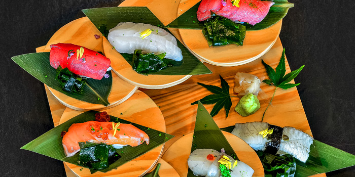 Signature Omakase Sushi from Tatsumi Japanese Cuisine at Pathumwan Princess Hotel 444 Phayathai Road Bangkok