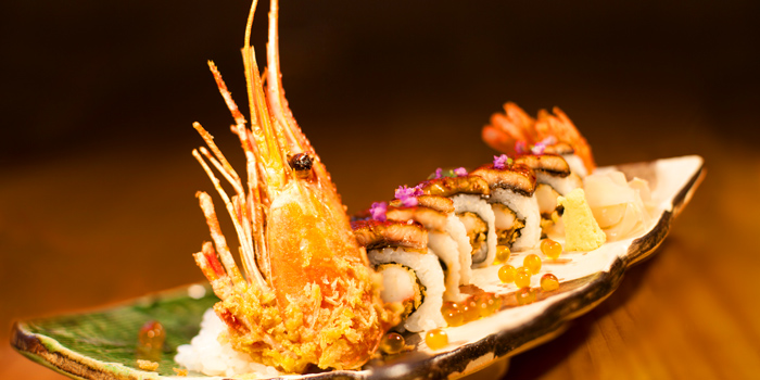 Signature Tatsumi Roll from Tatsumi Japanese Cuisine at Pathumwan Princess Hotel 444 Phayathai Road Bangkok