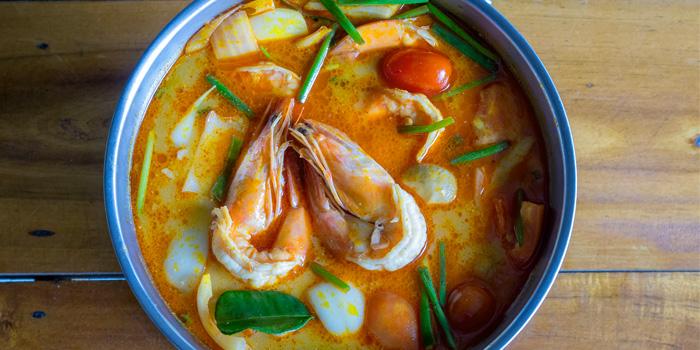 Tom-Yam-Goong from Golden Fish Restaurant & Bar in Bangtao Beach, Phuket, Thailand