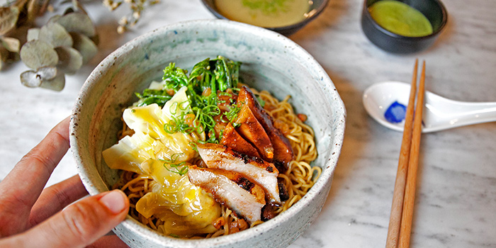 Pork Jowl Char Siew Wonton Mee from Morsels in Dempsey, Singapore
