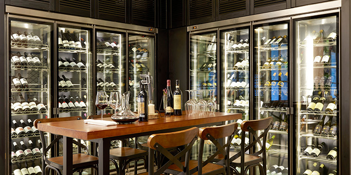 Wine Cellar of Botanico at The Garage in Singapore Botanic Gardens in Bukit Timah, Singapore