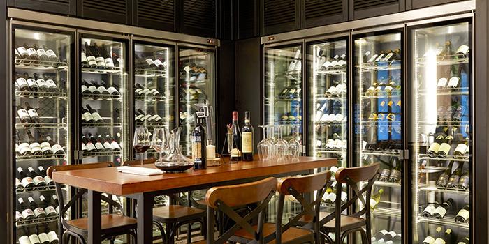 Wine Cellar of Botanico at The Garage in Singapore Botanic Gardens in Bukit Timah, Singapore