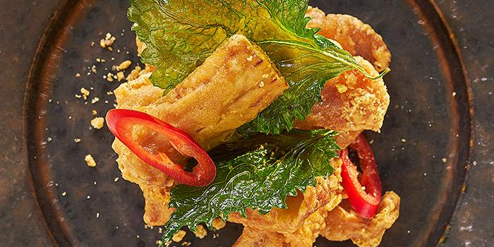 Wok fried Pork with Eggplant and Garlic, Yan Toh Heen, Tsim Sha Tsui East, Hong Kong