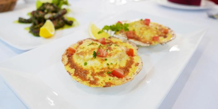 Baked Scallops from JP French Restaurant at 59/1 Sukhumvit Rd., Soi 31 (Soi Sawasdee) Wattana, Klong Toey Bangkok