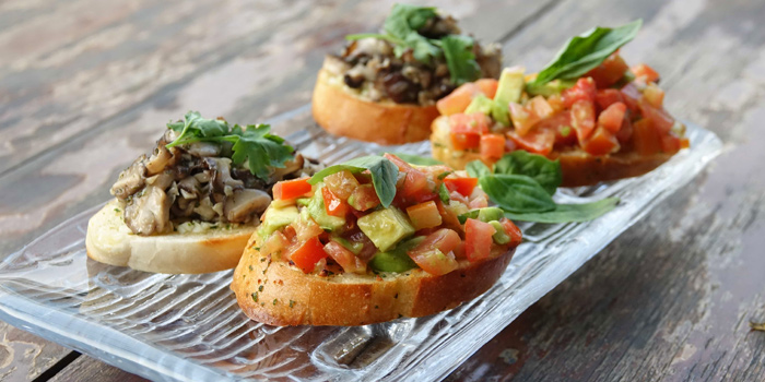 Bruschetta from Roots - Bangkok at K- Village, Bangkok