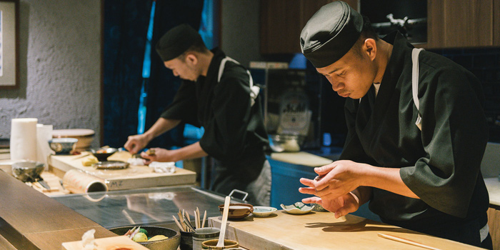 The Chef from Mizu by Sankyodai at Chaan Issara Tower on Rama IV Road, Bangkok