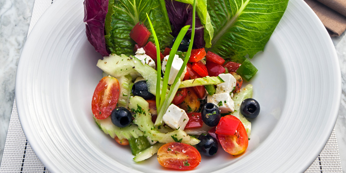 Greek Salad from Prime+ Urban Grill Restaurant & Bar at Floor7th, Compass SkyView Hotel 12 Sukhumvit 24 Klongton, Klongtoey Bangkok