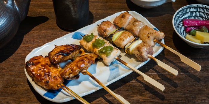 Skewers from Soba Factory at Bangkok Marriott Marquis Queen