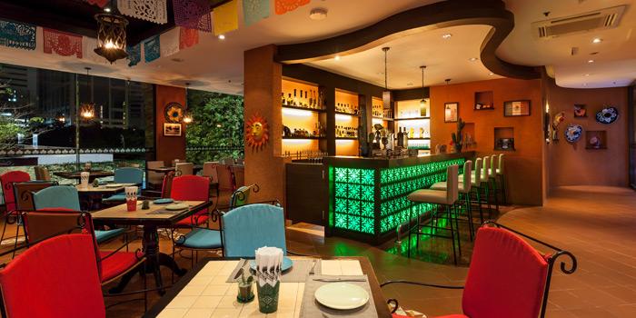 The Bar Area of Mexicano at 1st Floor, Rembrandt Hotel 19 Sukhumvit Soi 18 Sukhumvit rd, Klong Toei Bangkok