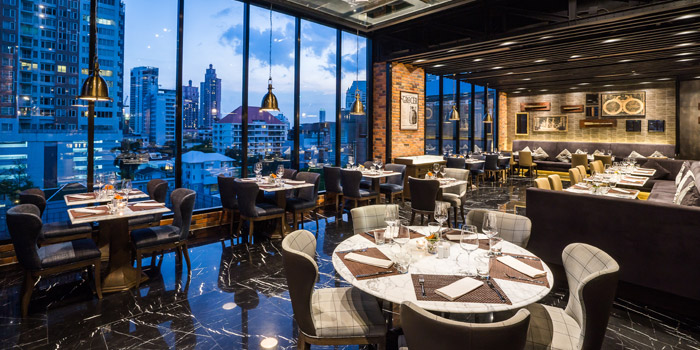 Ambience of Prime+ Urban Grill Restaurant & Bar at Floor7th, Compass SkyView Hotel 12 Sukhumvit 24 Klongton, Klongtoey Bangkok