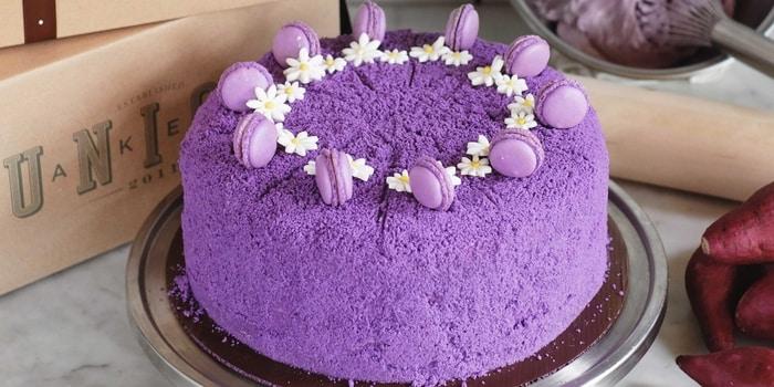 Ube Velvet Cake at Union Deli, Grand Indonesia