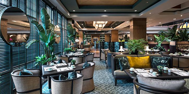 Dining Area of Tea Lounge at Regent Singapore in Tanglin, Singapore