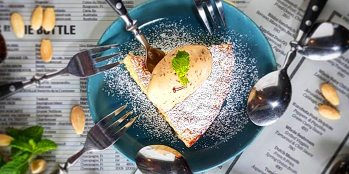 Almond Cake with Rum&Plum-Ice cream from Kika Kitchen & Bar at 14 Convent Rd, Silom, Bang Rak, Bangkok