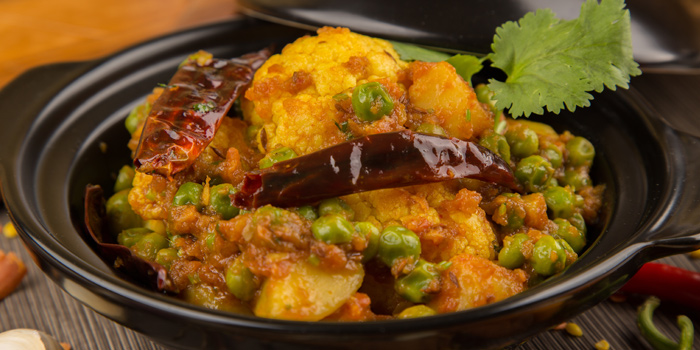 Aloo Gobi Mutter from Arabesque Restaurant at 68/1 Sukhumvit Soi 2 Sukhumvit Rd, Klongtoey Bangkok