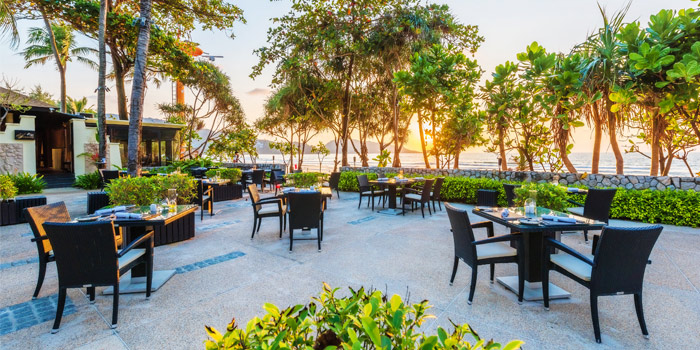 Ambiance of Sala Bua Beachfront Restaurant in Patong, Phuket, Thailand.