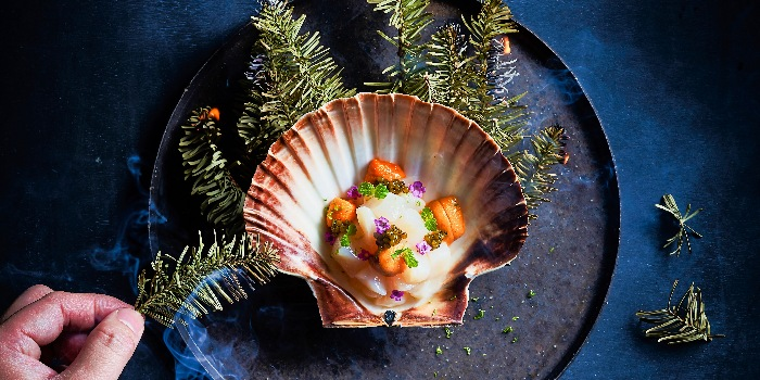 Hokkaido Scallop Tartar with Sea Cavier from Anti:dote at Fairmont Singapore in City Hall, Singapore