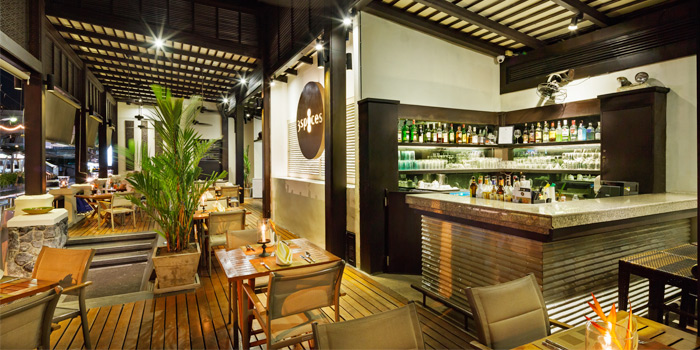 Restaurant Atmosphere of 3 Spices in Patong, Phuket, Thailand.
