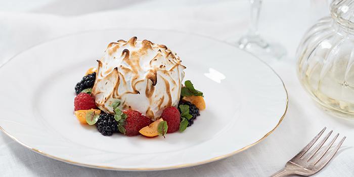 Baked Alaska from The White Rabbit serving Modern European cuisine in Dempsey, Singapore