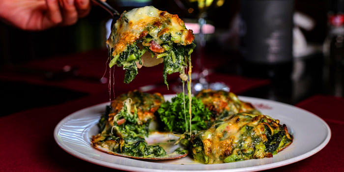 Baked Spinach with Cheese from Neil