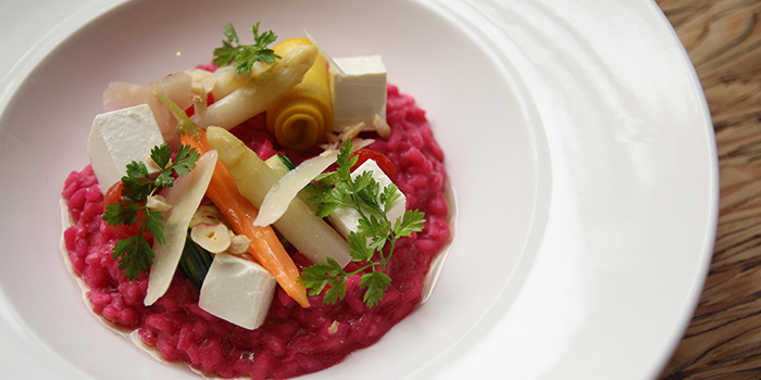Beetroot Risotto with Hazelnuts, FINDS, Tsim Sha Tsui, Hong Kong