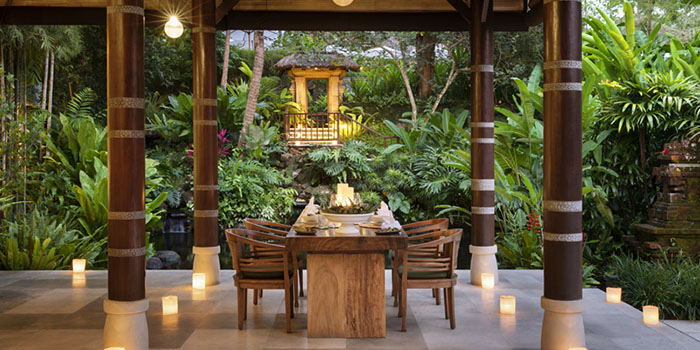 Dining Area from Kemiri Restaurant at Ubud, Bali