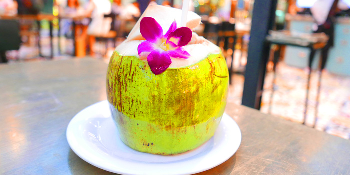 Coconut Juice from The Dishes Seafood & Restaurant at 2194 Charoen Krung Rd Wat Phraya Krai, Bang Kho Laem Bangkok