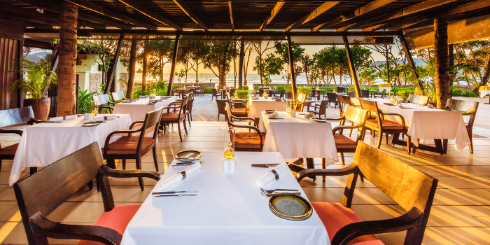 Dining Area of Sala Bua Beachfront Restaurant in Patong, Phuket, Thailand.