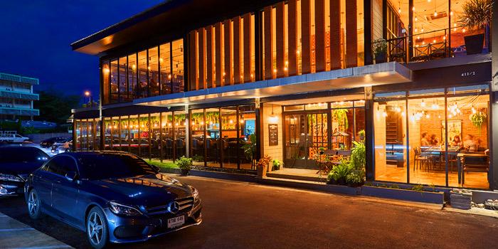 Entrance of Thyme Eatery & Bar at 411/2 Nang Linchi Rd Chong Nonsri Yannawa, Bangkok