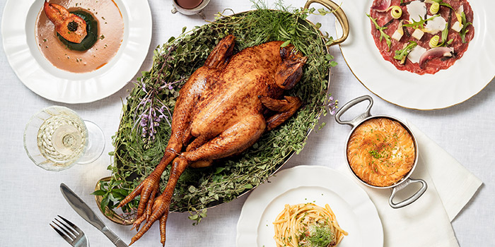 Food Spread from The White Rabbit serving Modern European cuisine in Dempsey, Singapore