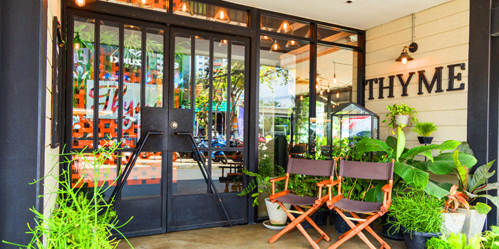 The Entrance of Thyme Eatery & Bar at 411/2 Nang Linchi Rd Chong Nonsri Yannawa, Bangkok