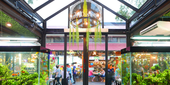 Entrance of The Dishes Seafood & Restaurant at 2194 Charoen Krung Rd Wat Phraya Krai, Bang Kho Laem Bangkok