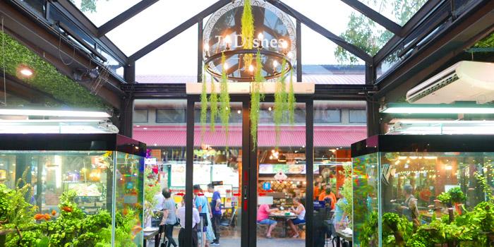 Entrance of The Dishes Seafood & Restaurant at 2194 Charoen Krung Rd Wat Phraya Krai, Bang Kho Laem Bangkok