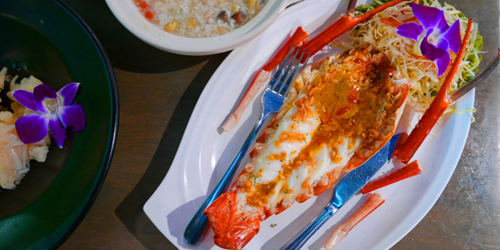 Grilled River Prawns from The Dishes Seafood & Restaurant at 2194 Charoen Krung Rd Wat Phraya Krai, Bang Kho Laem Bangkok