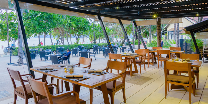 Indoor & Outdoor of Sala Bua Beachfront Restaurant in Patong, Phuket, Thailand.
