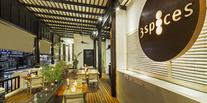 Interoir of 3 Spices in Patong, Phuket, Thailand.