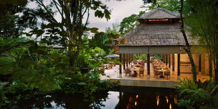 Night View from Kemiri Restaurant at Ubud, Bali